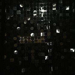 2019.9.13FRI/中秋の名月/シャワーカーテンを窓に付けてる/お隣さん電気点けちゃった/ひとり暮らし...などのインテリア実例 - 2019-09-13 20:18:42