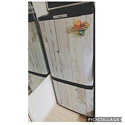 キッチン/冷蔵庫リメイク/冷蔵庫/一人暮らし/レトロ...などのインテリア実例 - 2017-02-28 23:58:09