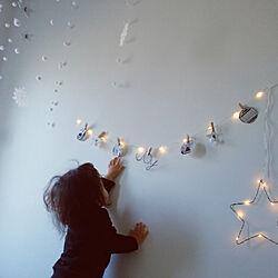壁/天井/クリスマス/掃除しやすい家/こどもと暮らす。/普通の家...などのインテリア実例 - 2017-12-13 11:49:59