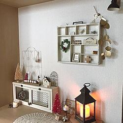 玄関のクリスマスディスプレイ/LEDランタン/クリスマス/小瓶/ミニリース...などのインテリア実例 - 2019-11-04 20:30:57
