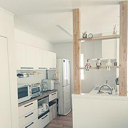 キッチン/LIXILキッチン/ホントはかっこいい部屋にしたい/飽き性だから白い家にした/片付け苦手...などのインテリア実例 - 2017-05-24 08:41:50