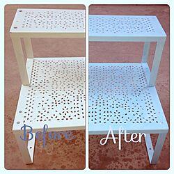 棚/リメイク/ペイント完了/IKEAのインテリア実例 - 2013-10-07 17:35:46
