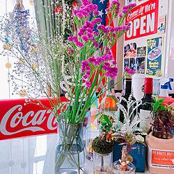 かすみ草/お花/お花のある暮らし/スターチス/アメリカン...などのインテリア実例 - 2021-05-07 08:27:37