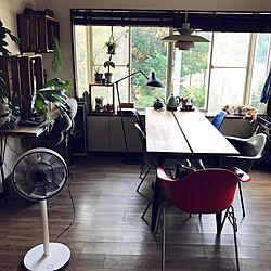 ポテトボックス/木箱/IKEAのダイニングテーブル/扇風機/BALMUDA...などのインテリア実例 - 2018-08-27 06:59:44