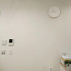 リビング/ホワイトインテリア/時計/しろが好き*/いつもいいねありがとうございます♡のインテリア実例 - 2019-08-10 22:46:58