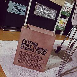 ゴミ箱/男前/ステンシル/カフェ風のインテリア実例 - 2014-12-05 23:39:58