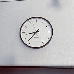 掛け時計/モノトーン/リビングのインテリア実例 - 2020-12-01 08:42:59