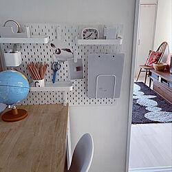 無印良品/デザインレターズ/IKEA/リビング学習机 DIY/在宅ワーク...などのインテリア実例 - 2021-06-16 21:26:28