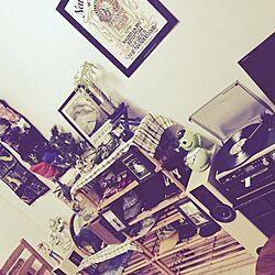 リビング/賃貸/古着屋風/アメリカン/アメリカンごちゃごちゃ雑貨...などのインテリア実例 - 2014-10-07 18:52:41