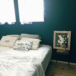 寝室/ベッド/ベッド周り/H&M HOME/ニトリ...などのインテリア実例 - 2019-09-30 15:02:27