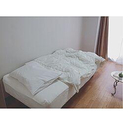 ベッド周り/ベッド/白/無印良品枕/無印良品...などのインテリア実例 - 2016-04-16 10:01:50