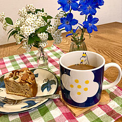 おやつタイム/コーヒータイム/プチプラで楽しむ/フローレン/ムーミンマグ...などのインテリア実例 - 2021-05-01 16:54:42