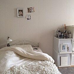 ベッド周り/IKEA/ニトリ/一人暮らし/ポストカードのインテリア実例 - 2016-07-17 15:04:35