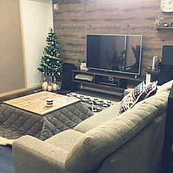 リビング/しまむらクッション/ペンドルトン/こたつ/クリスマスツリー...などのインテリア実例 - 2015-12-19 13:15:09