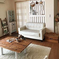 リビング/DIY/カーテン/3コインズ/Come home!...などのインテリア実例 - 2018-05-27 15:25:59