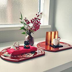 棚/招き猫/干支飾り/お正月飾り/お正月ディスプレイ...などのインテリア実例 - 2020-01-02 14:36:44