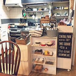 キッチン/アンティーク/おうちカフェ/100均/黒板塗料...などのインテリア実例 - 2018-01-21 01:46:50
