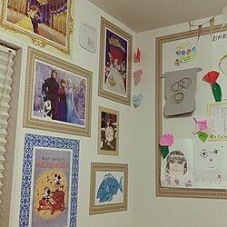 壁/天井/マスキングテープ/ニトリ/子供の絵/マスキングテープ 壁...などのインテリア実例 - 2017-06-18 14:05:35