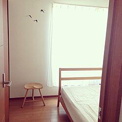 ベッド周り/無印良品/モビール/北欧デザイン/リネンのインテリア実例 - 2014-04-06 09:58:29