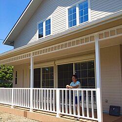 玄関/入り口/外観/格子窓/ラップサイディング/三角屋根...などのインテリア実例 - 2016-07-31 20:46:23