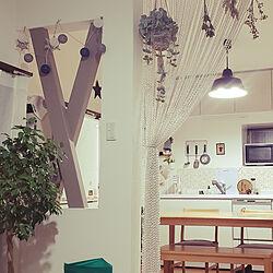 キッチン/カフェ風/セリア/DIY/中古住宅...などのインテリア実例 - 2020-01-21 22:39:06