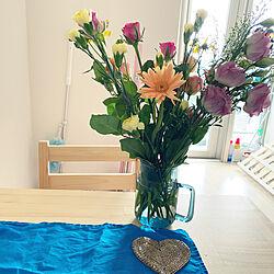 北欧くらしの道具店 フラワーベース/pure_flower/花のある暮らし♡/花の定期便/ダイニングテーブル...などのインテリア実例 - 2020-07-17 22:11:49