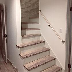 玄関/入り口/アートクチュールの床/ひな壇階段/階段のインテリア実例 - 2018-12-16 20:36:35