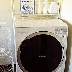 洗濯機/洗濯機ラック/ホワイト シンプル/二世帯同居/二世帯住宅の二階...などのインテリア実例 - 2016-03-21 16:23:11