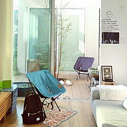 リビング/アウトドアインテリア/Helinox/折りたたみ椅子/中庭のある家...などのインテリア実例 - 2017-10-09 15:12:43