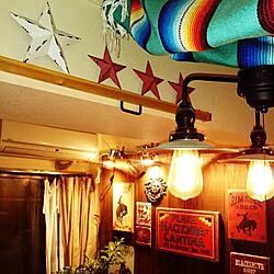 壁/天井/グルク バーンスター/賃貸でも楽しく♪/ブリキサインのインテリア実例 - 2016-06-20 09:51:39