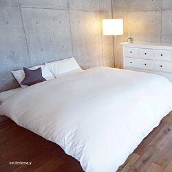 ベッド周り/コンクリート打ちっぱなし/ホワイトインテリア/IKEA/無印良品...などのインテリア実例 - 2017-01-16 09:10:58