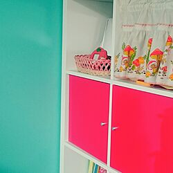 子供部屋/IKEA/組立家具/カラフル/壁紙は水色...などのインテリア実例 - 2015-10-19 20:03:14