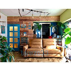 リビング/カフェ風インテリア/マンションインテリア/床DIY/DIY...などのインテリア実例 - 2018-11-18 10:21:42