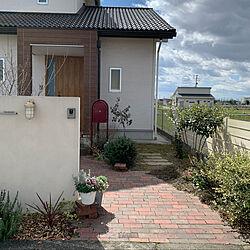 レンガ/BOBI ポスト/ボビポスト/庭/ガーデン...などのインテリア実例 - 2020-03-11 11:58:57