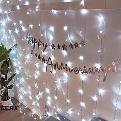 壁/天井/シンプル飾り付け/記念日/ニトリのフェイクグリーン/海外インテリア好き...などのインテリア実例 - 2018-01-23 17:25:27
