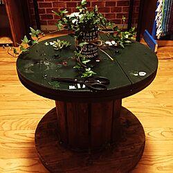 机/テーブル/ヘデラ/電線ドラム/DIY...などのインテリア実例 - 2016-06-24 22:45:07
