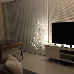 リビング/クリスマスツリー/間接照明/夜のリビング/シンプル...などのインテリア実例 - 2018-11-24 19:55:16