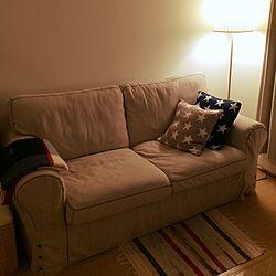 リビング/クッション/ソファ/アメリカン/IKEA...などのインテリア実例 - 2015-11-21 22:11:18