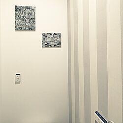 バス/トイレ/モノトーン/トイレ/輸入壁紙/壁紙...などのインテリア実例 - 2015-10-27 14:57:24