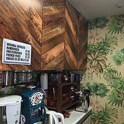 キッチン/ヘンリーボーン/カリフォルニアインテリアに憧れる/都内の小さなマンション/ハワイアン雑貨...などのインテリア実例 - 2016-08-19 00:06:19