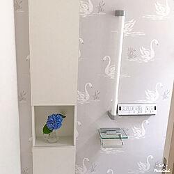 トイレの棚/カワジュン ペーパーホルダー/カワジュン/あじさい/ローラアシュレイ 壁紙...などのインテリア実例 - 2020-05-31 23:14:32