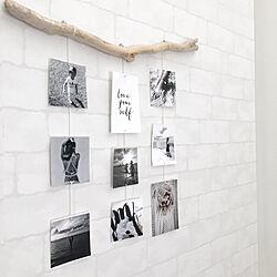 リビング/子供の写真/DIY/レンガ風壁紙/レンガ壁紙...などのインテリア実例 - 2017-10-19 18:13:23