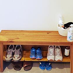 玄関/入り口/玄関/100均/DIY/靴収納...などのインテリア実例 - 2021-05-04 16:24:30