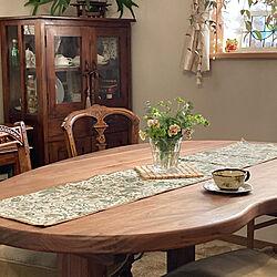 テーブルランナー/パンジー/くるみ/花のある暮らし/器好き...などのインテリア実例 - 2021-04-27 16:11:15