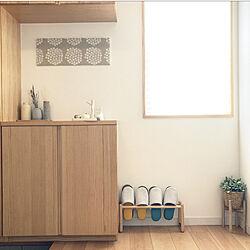 明るい玄関/IKEA 雑貨/3COINS/ドライフラワー/陶器フラワーベース...などのインテリア実例 - 2021-09-12 14:51:14
