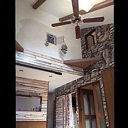 リビング/壁紙/ドライフラワー/築20年以上/塗り壁DIY...などのインテリア実例 - 2017-09-13 11:12:41