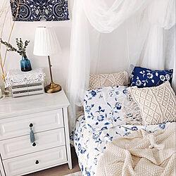 ニトリ/ブルー/寝具/IKEA/癒しの空間...などのインテリア実例 - 2019-10-11 20:37:04
