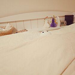 ベッド周り/ひとり暮らし 1K/ホワイトインテリアのインテリア実例 - 2017-07-08 09:38:18