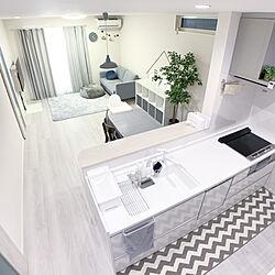 白いシンク/レイアウト/こどもと暮らす/IKEA/ダイニングテーブル...などのインテリア実例 - 2021-02-03 13:30:44