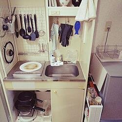 キッチン/一人暮らし/ワンルーム/収納アイデア/100均DIY...などのインテリア実例 - 2020-02-16 13:31:18